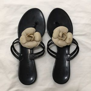 Chanel Camellia Jelly Sandals